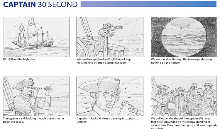 Storyboard by Michael Watt